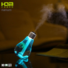 Modern Classic Silver Blub Shaped Humidifier Mini With Led Light