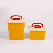 Handling Plastic Sharps Containers Medical Waste rectangular sharp container with handle