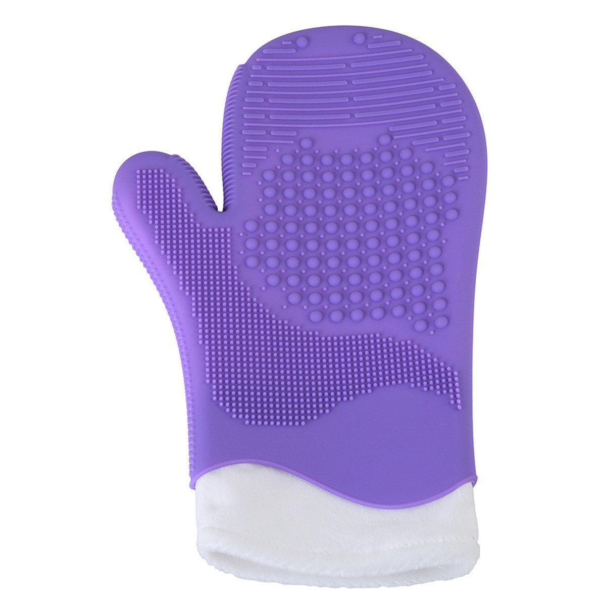 Edtoy Makeup Cosmetic Brush Washing Cleaning Glove Silicone Cleaner Scrubber (Purple)