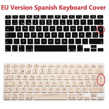 1pcs ESP Spanish Keyboard Skin Cover For Macbook Mac Book Air Pro Retina 13 15 17 EU Europe Silicon Laptop Keypad Protector Film