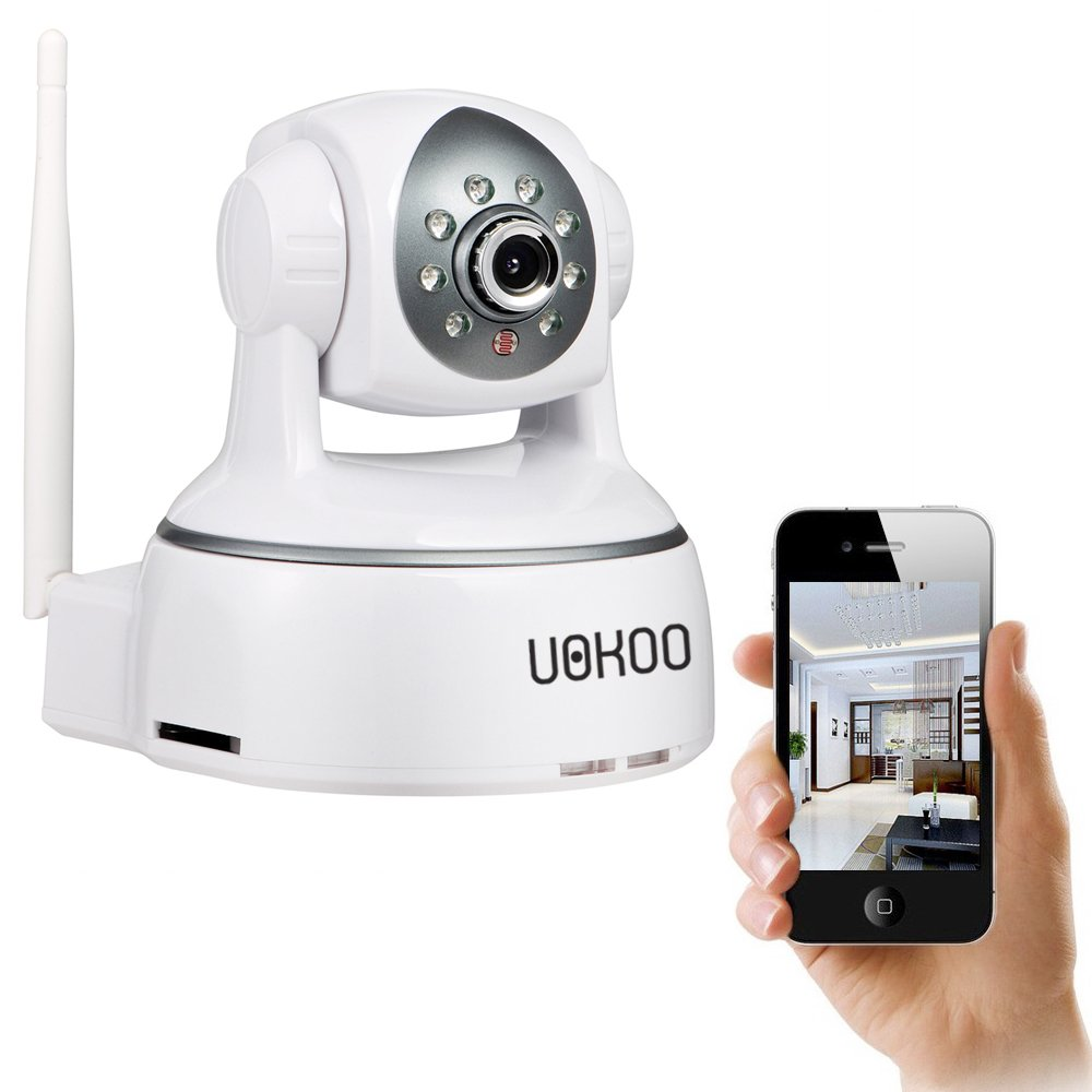 UOKOO Wireless Camera, 1280X720P WiFi Security Camera with Pan/Tilt, 2-Way Audio and Night Vision use for Pet Monitor, Puppy Cam, Baby Monitor, Nanny Camera and Wireless IP Camera(624GB)