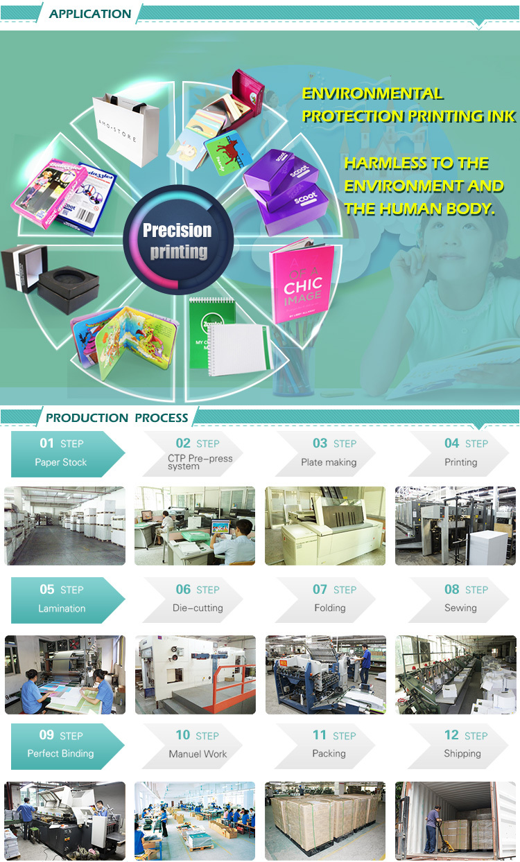 Customized popular wholesale CMYK high quality coloring OME design product instruction flyer
