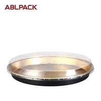 900ML/30oz 9 Inch Aluminum Foil Baking Pans Pizza Tray Round Healthy Disposable Pie Pan Foil Dish With Lids