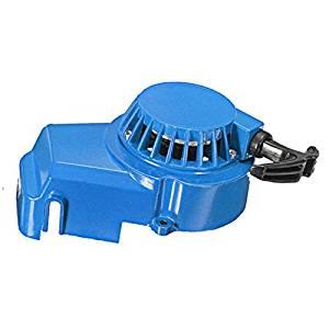 Mini Moto Pull start - TOOGOO(R) Metal Pull Start 49cc Air Cooled 2 Stroke Mini Moto Dirt Quad Pullstart 49 cc -Blue