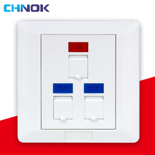 network face plate for rj45 keystone jack