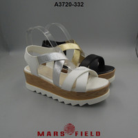New Arrival PU upper sandal womens wedges