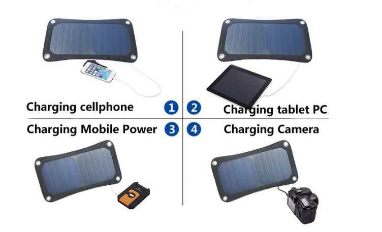 7watt Waterproof portable solar mobile phone charger OEM/Manufacturer