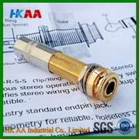OEM custom machining service high precision end pin Stereo Jack, electrica guitar endpin jack