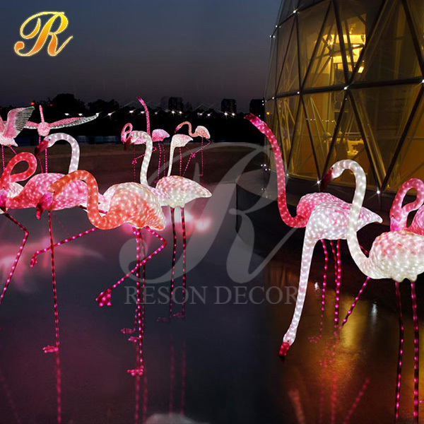 LED lighted decorative flamingo acrylic flamingo