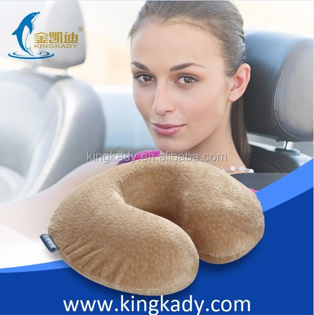 2015 New Portable U Shape Neck Protecting Memory Foam Car inflatable memory form neck Pillow
