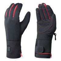 New design 7.4v rechargeable battery heated motorcycle gloves for winter riding skiing