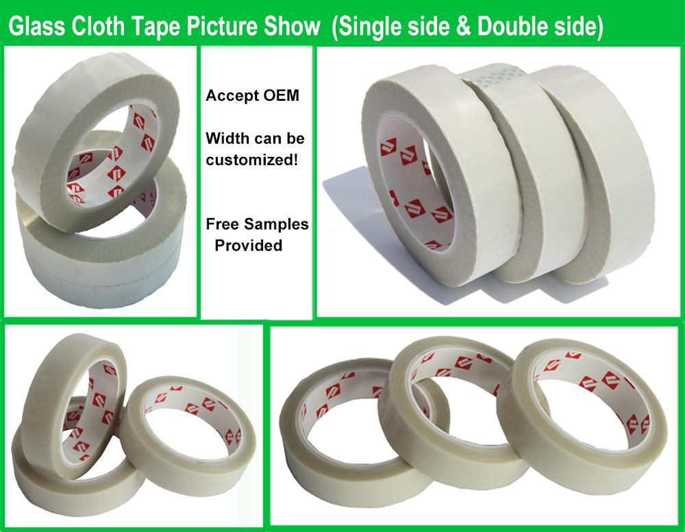 Temperature high heat resistance insulation silicone adhesive glass cloth tape