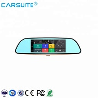 7 Inch 3G Full HD WiFi Dual Car Camera CE Certification and 5.0 Android System Car DVR Firmware