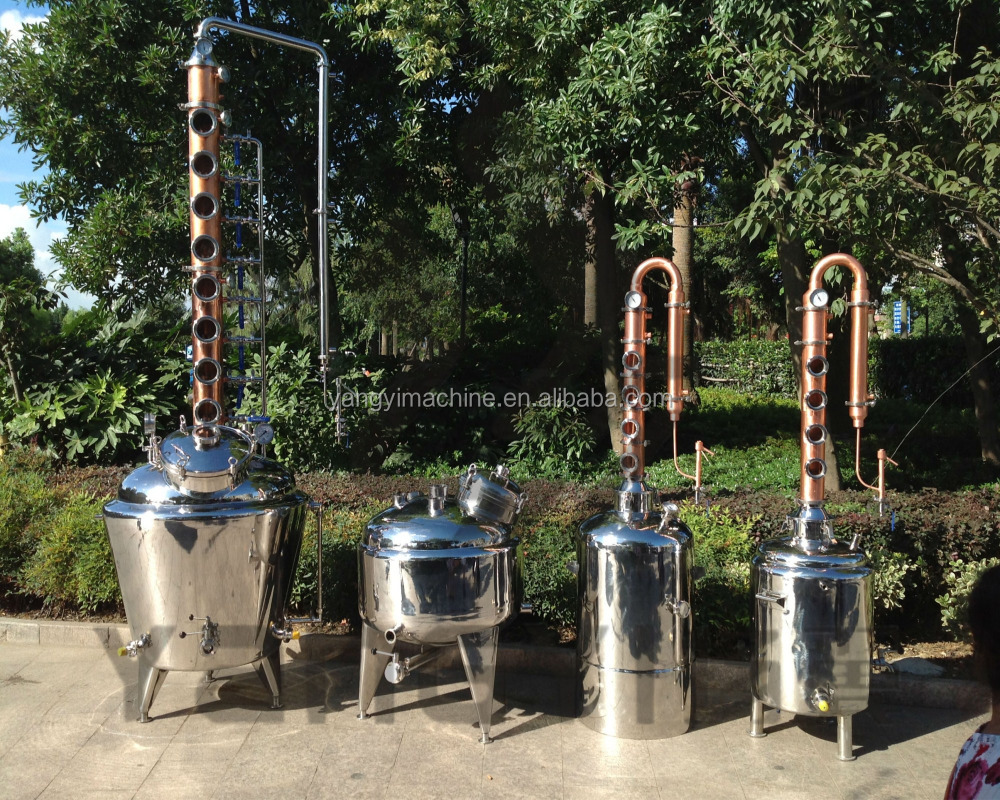 100l/200l/300l home copper still column alcohol distiller