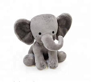 Direct Factory Big Ear Plush Sitting Grey Elephant Toy/ Stuffed PP Cotton Plush Elephant Animal Toy