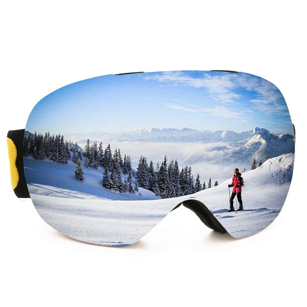 2c2b7a5883 Puncia Skiing Goggles PRO Interchangeable Lens 100% UV400 Protection Snow  Goggles for Men