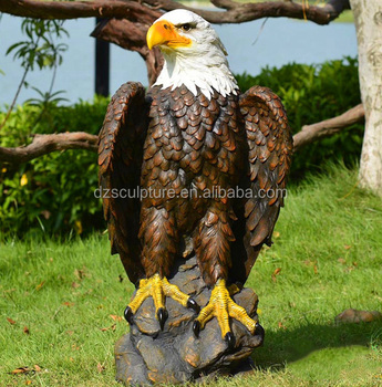 Bon Outdoor And Garden Decoration Fiberglass Eagle Statue