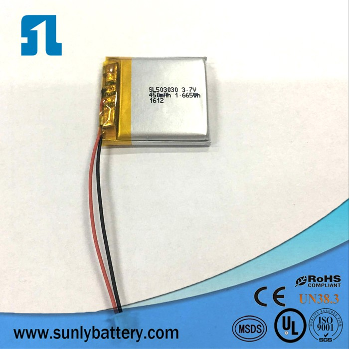 453030 3.7V 380mAh Rechargeable graphene lithium polymer li-ion battery