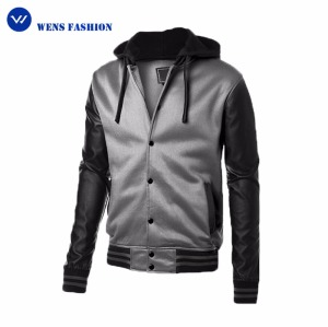 Wholesale New Style Designed Mens Layered Hooded Us Polo Leather Jacket