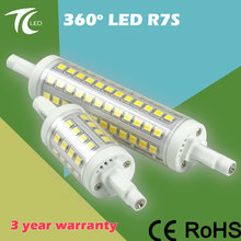 Hot sale 360 degree clear cover high lumen 85-265V 10W 118mm led r7s