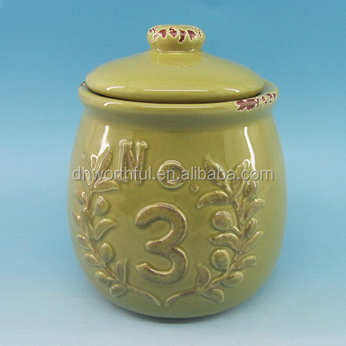 Handpainting ceramic coffee container,ceramic sugar jar,ceramic tea caddy