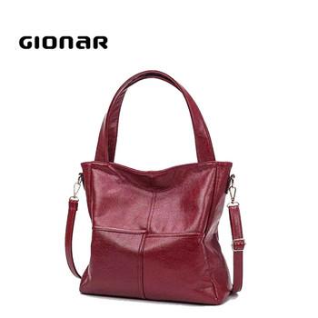 8d1945b9289e Guangzhou Gionar online shopping shoulder bags brands soft leather designer  cheap large handbags for women