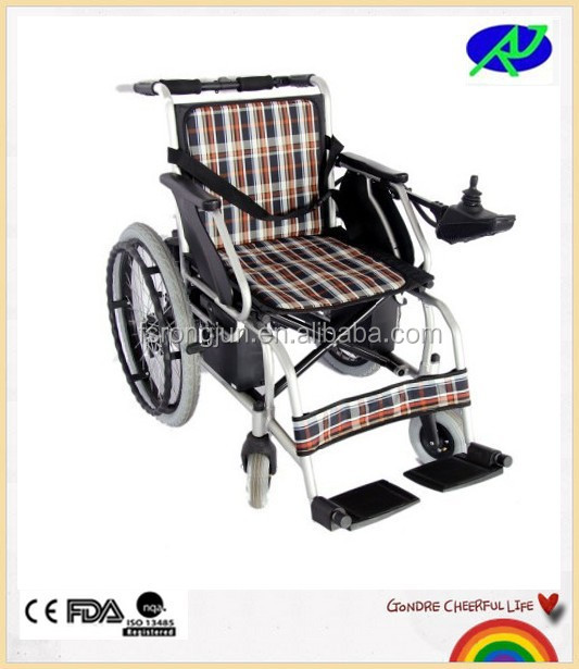 2015 Stylish utility economic safe light weight foldable electric wheelchair RJ-W891L