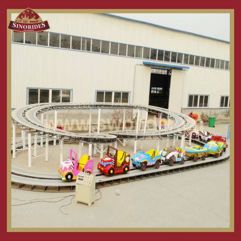 Kiddie rides on car electric track rides equipment