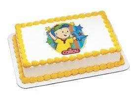 Caillou Edible Image Cake Topper
