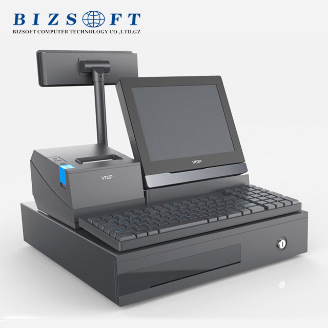 Bizsoft Vtop HR618 intergrated pos cash register system for supermarket