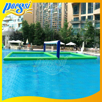 Pool inflatable aqua volleyball court for sale buy for Pool design for volleyball