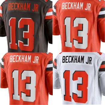 size 40 54887 37c50 Odell Beckham Jr # 13 American Football Jersey Customized Orange / Brown /  White Odell Beckham Jr Football Jersey - Buy Giants American Football ...