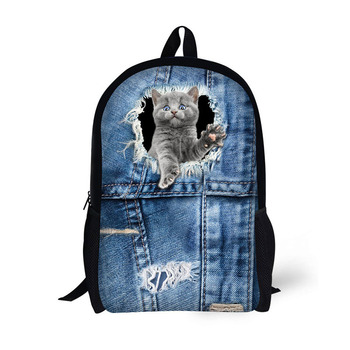 Latest Jeans Series Printed Adult School Bags Backpack For Boys ... bf974b2fad