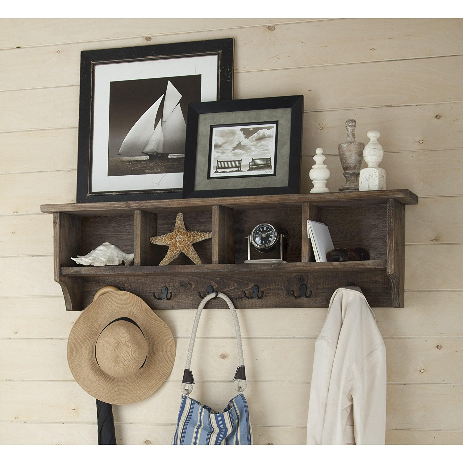 mounted wall decorations coat rack mount home hooks nice shelf with