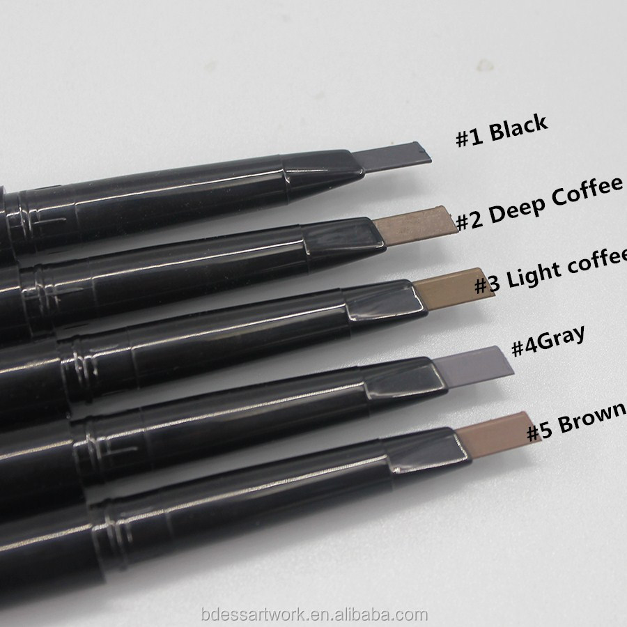 hot sale girl makeup eyebrow stamp permanent eyebrow pencil