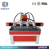 High work efficiency multi heads wood cnc router/cnc wood carving machine/copper cnc engraving machine