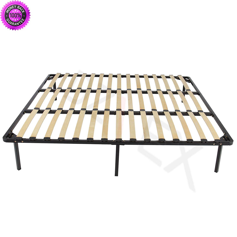 DzVeX Wooden Slat Metal Bed Frame Slats Platform Bedroom Mattress Foundation King And king bed frame beds queen bed frame with storage king size bed full size bed platform bed full size bed