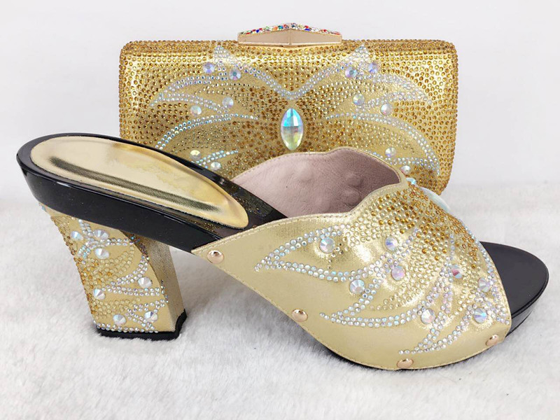 set stones and matching popular for stones shoes bag with shoes lady party bag HwIwrEqd