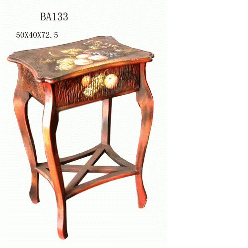 Hand Painted Fruit Accent Table
