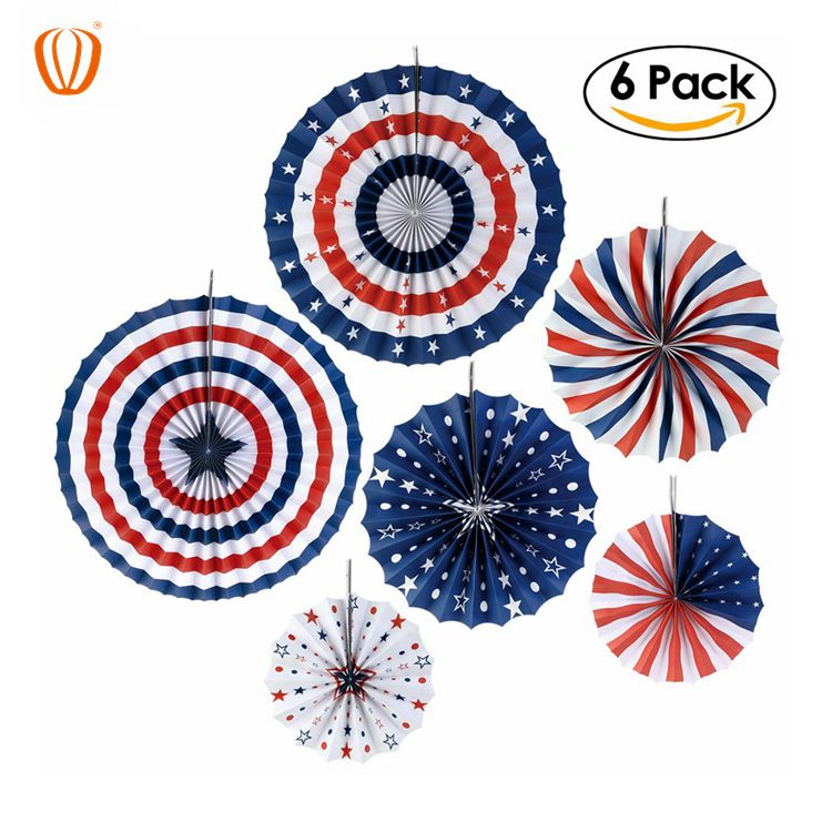 Presidents Day Paper Fan Decorations Patriotic Decorations For Lincoln S Birthday Washingtons Birthday Pack Of 6 Buy National Day Decoration Giant