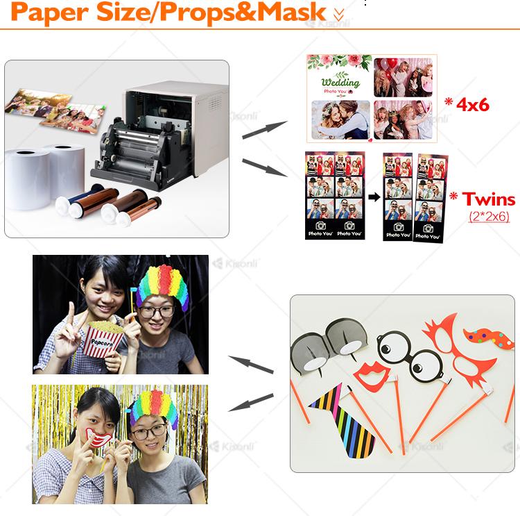Selfie Purikura Photo Booth OEM Sticker Automaat met Props voor Wedding Party