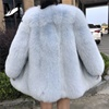Hot Sale Cheap Chinese Model Genuing Fox Fur Women Long Coat