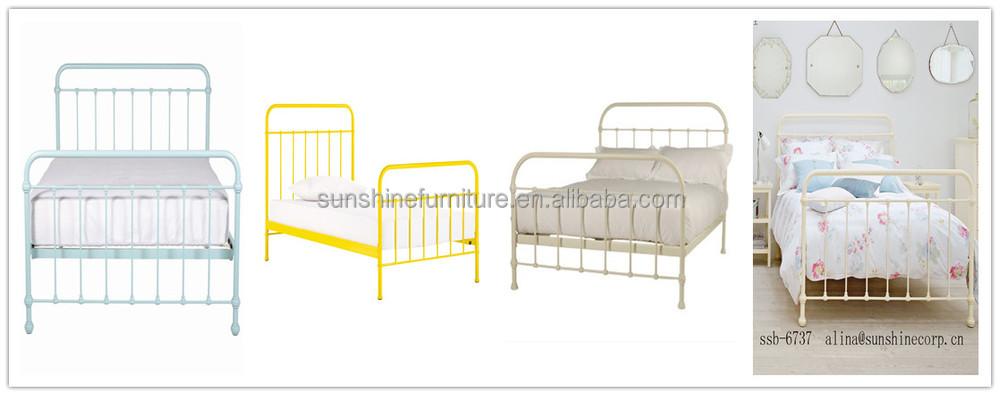 pas cher enfants chambre meubles rose blanc m tal m tal noir cadre lit mezzanine avec. Black Bedroom Furniture Sets. Home Design Ideas