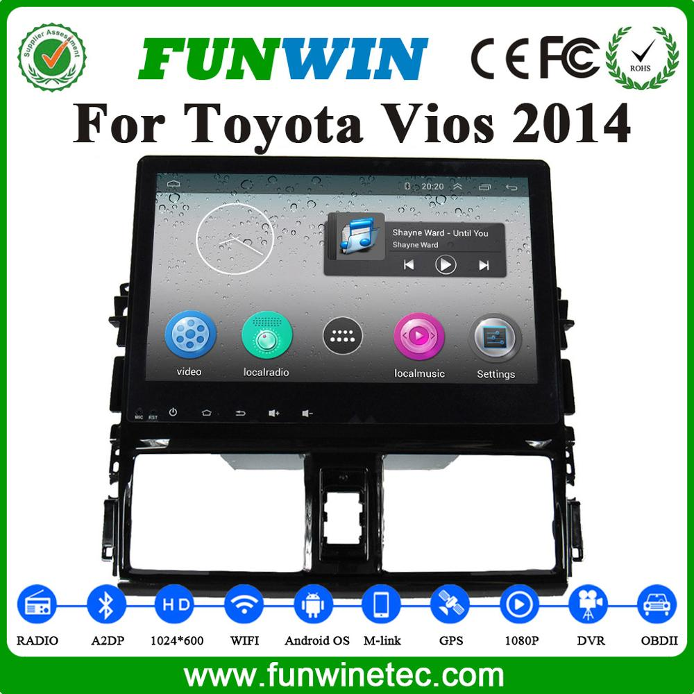 2016 alibaba hot sale dvd player for <strong>Toyota</strong> Vios 2014 <strong>car</strong> multimedia player gps navigation support wifi bluetooth 3G