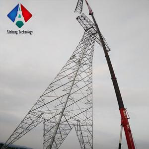 40m 33kv high voltage electricity 10ft 6mm thickness in power distribution equipment 230kv steel round pole price