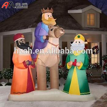 huge christmas inflatable 3 wisemen nativity holiday - Huge Inflatable Christmas Decorations