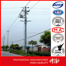 Q345 Electric Concrete Pole with Hot Dip Galvanized Manufacturer