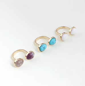 Charming Solid Color Faux Gem Embellished Women's Finger Ring