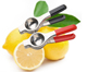 High Quality Kitchen Tools Silicone Handle 304 Stainless Steel Lemon Squeezer