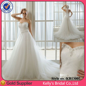 Sweetheart Neckline Make Of Shining Tulle Plus Size Wedding Dress